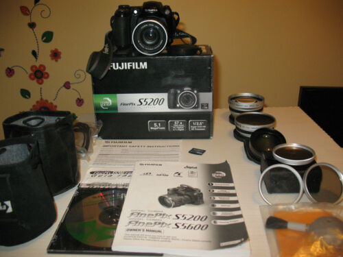 Fujifilm FinePix S5200 5.1 MP Digital SLR Camera + Lenses, Filters, xd card in Cameras & Photo, Digital Cameras | eBay
