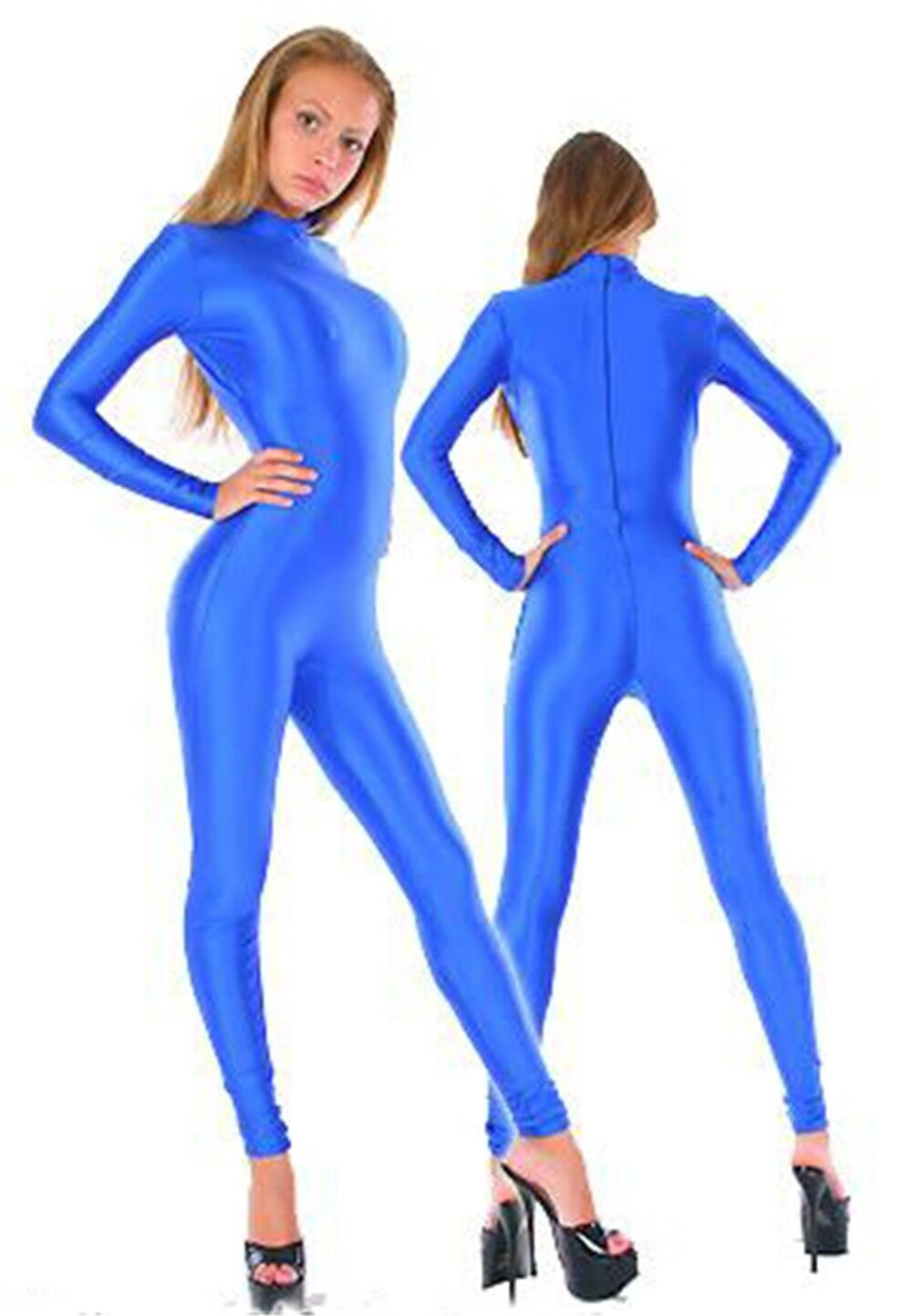 And shame! full body spandex suit