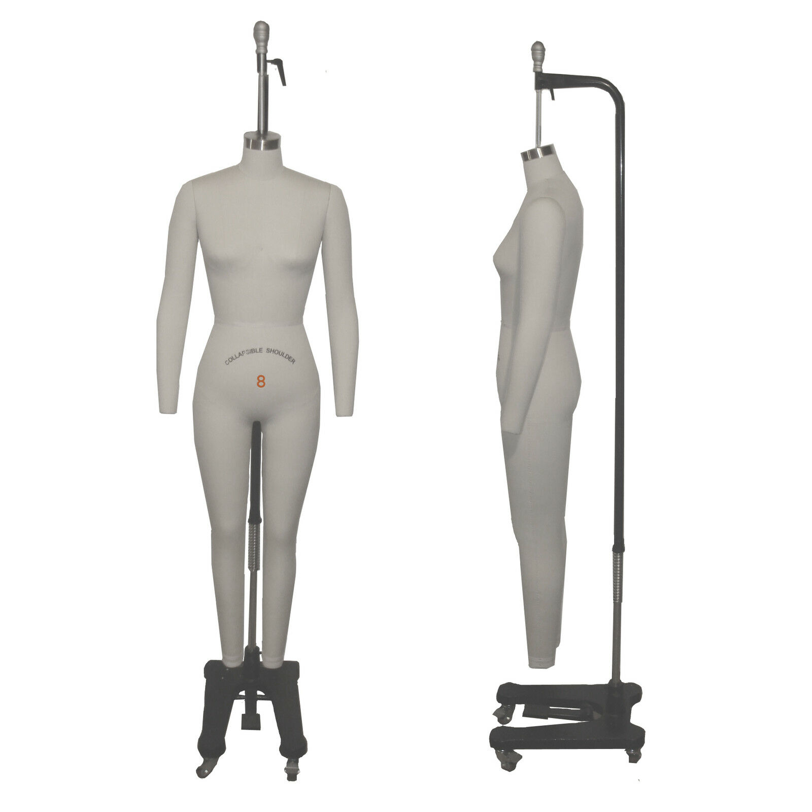 Full Body Professional Dress Forms Sewing Form Size 8