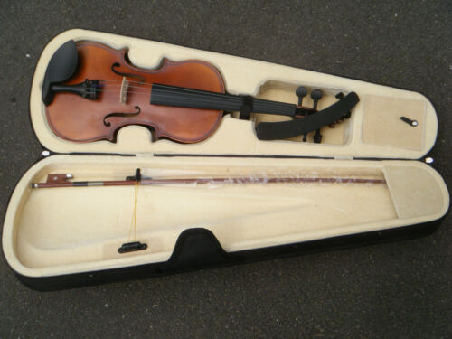 Full Size 4/4 Acoustic Violin Fiddle & Bow Musical Instrument Great for beginner in Musical Instruments & Gear, String, Violin | eBay