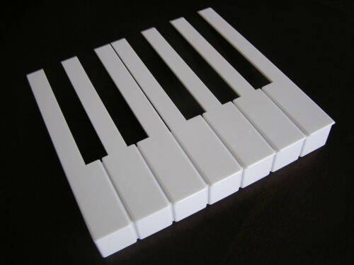 Full set of 52 White Piano Keytops With Fronts Keys Replacement Plastic Key Tops in Musical Instruments & Gear, Piano & Organ, Parts & Accessories | eBay