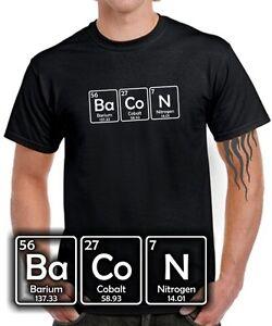 Fun-T-SHIRT-BACON-Chemie-Periodensystem-I-love-Fleisch-Speck-Wurst-Fett