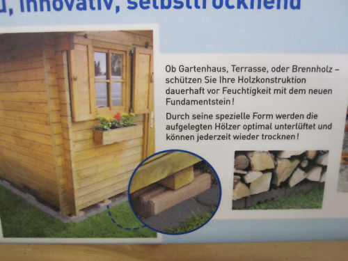 fundamentsteine terrassensteine gartenhaus steine fundament untergrund ebay. Black Bedroom Furniture Sets. Home Design Ideas