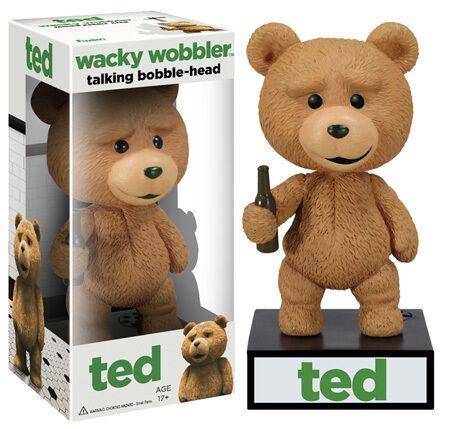 Funko TED TEDDY BEAR TALKING Wacky Wobbler Bobblehead Seth MacFarlane MINT! in Collectibles, Pinbacks, Bobbles, Lunchboxes, Bobbleheads, Nodders | eBay
