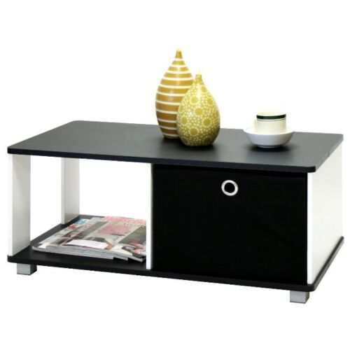 Furinno 99954 Coffee Table with Bin Drawer, Black and White Finish in Home & Garden, Furniture, Tables | eBay