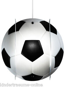 fussball h ngelampe lampe lampion lampenschirm neu ovp. Black Bedroom Furniture Sets. Home Design Ideas