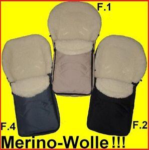 Fusssack-fuer-MaxiCosi-Roemer-Autositz-Lammwolle-100-Merinowolle-4-Farben-NEU