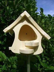 futterhaus vogelhaus typ hexe i zum selbst bemalen 1a ebay. Black Bedroom Furniture Sets. Home Design Ideas