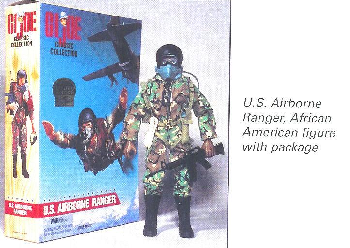 JOE U S ARMY AIRBORNE RANGER 1996 ETHNIC AFRICAN AMERICAN FIGURE