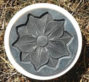 g096 blumen trittsteine gie form garten deko beton. Black Bedroom Furniture Sets. Home Design Ideas