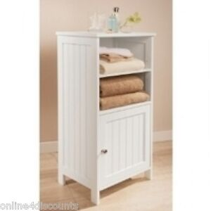 g1 white colonial bathroom floor standing cabinet shelves display unit