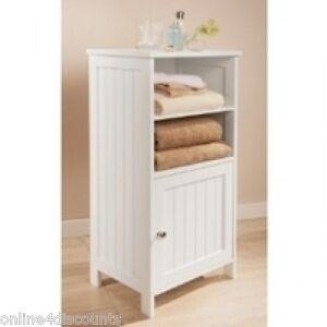 g1 white colonial bathroom floor standing cabinet shelves display unit