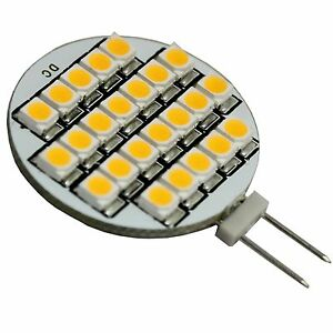g4 sockel fassung led leuchte mit 24 smd warmwei lampe 12v stiftsockel h01 ebay. Black Bedroom Furniture Sets. Home Design Ideas