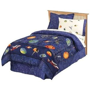 GALAXY OUTER SPACE FULL BED IN A BAG BOYS TEEN BEDDING