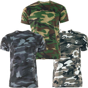 game t shirt camouflage camo milit r armee army 3 farben. Black Bedroom Furniture Sets. Home Design Ideas