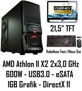 GAMER-PC-KOMPLETT-AMD-X2-FULL-HD-TFT-4GB-USB3-COMPUTER
