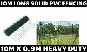 GARDEN GREEN PVC COATED BORDER STEEL WIRE MESH FENCE 10MX 0 9M FENCING STRONG