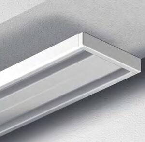 garduna gardinenschiene vorhangschiene aluminium weiss 2 1 l ufig wendeschiene ebay. Black Bedroom Furniture Sets. Home Design Ideas