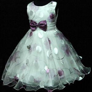 Girls Party Dress on Wedding Party Wedding Flower Girls Dress Sz 3 4 5 6 7 8 Y   Ebay