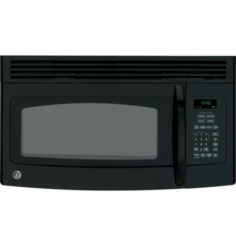 ge spacemaker 1 5 cu ft over the range black microwave. Black Bedroom Furniture Sets. Home Design Ideas