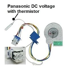 Ge refrigerator parts panasonic fan motor udqt26ge4 kit and sensor on popscreen - Panasonic fan replacement parts ...