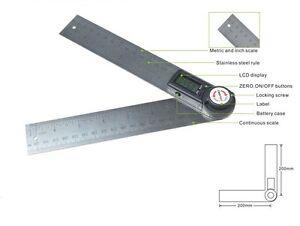 Gemred 360 Degree Digital Protractor Digital Angle Rule | eBay