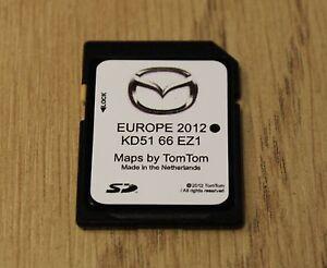 genuine mazda 3 6 rx 8 cx 5 sat nav navigation sd card uk. Black Bedroom Furniture Sets. Home Design Ideas