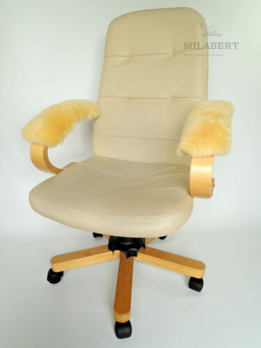 GENUINE MEDICAL SHEEPSKIN ARMREST COVER PAD OFFICE CHAIR WHEELCHAIR SCOOTER