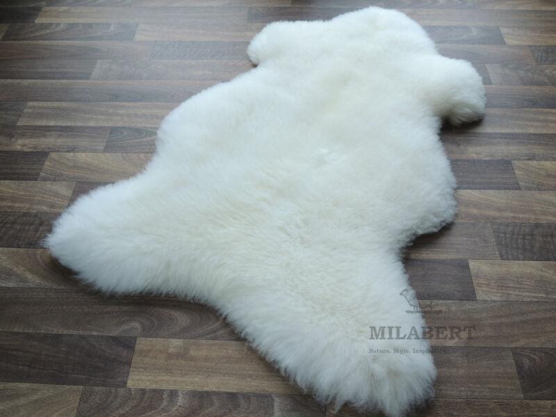 genuine sheepskin rug white soft fluffy wool large
