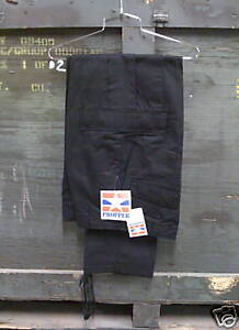 GENUINE-US-BDU-PANTS-BLACK-PROPPER-BRAND-NEW-X-SMALL-REGULAR