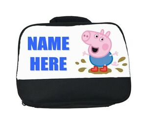Details about GEORGE (PEPPA) PIG PERSONALISED SCHOOL LUNCH BAG BOX