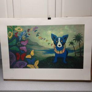 George Rodrigue Blue Dog Hawaiian Blues 1998