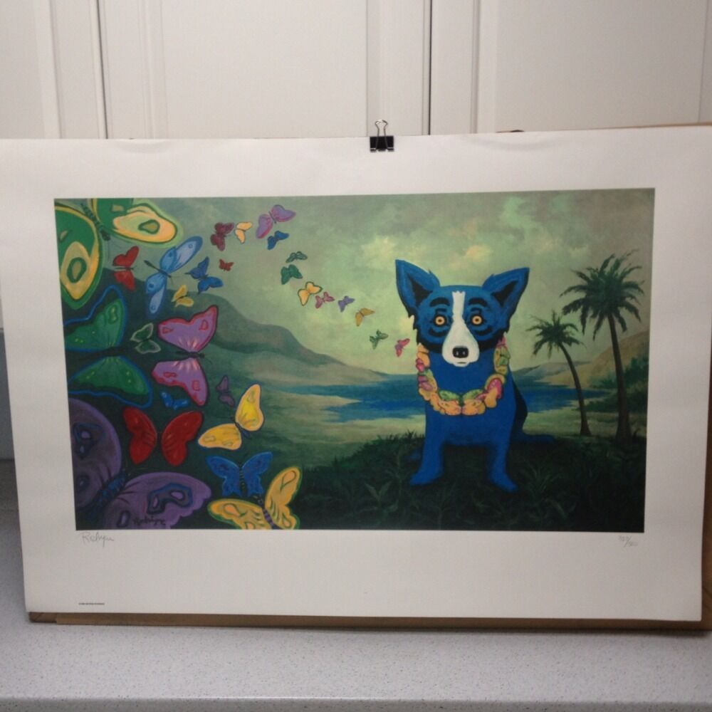 George Rodrigue Blue Dog Hawaiian Blues 1998