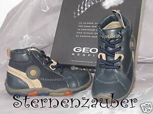 GEOX-Lauflernschuhe-Knoechelschuhe-Schuhe-dunkelblau-beige-B9335W-Gr-19