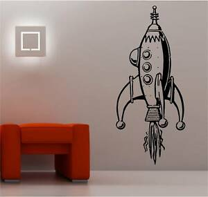 Giant Space Rocket Kids Wall Art Sticker Vinyl Bedroom EBay