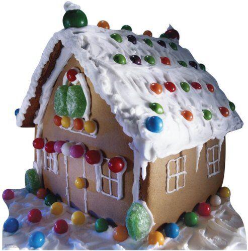 Christmas Cutout Decorations: GINGERBREAD HOUSE CHRISTMAS DECORATIONS LIFESIZE CARDBRD