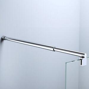glaswand stabilisator haltestange duschabtrennung duschkabine dusche edelstahl ebay. Black Bedroom Furniture Sets. Home Design Ideas