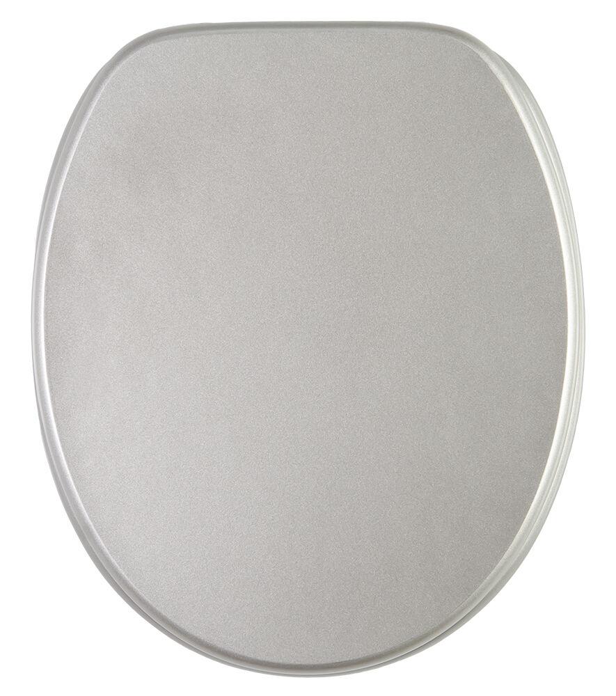 wc sitz toilettendeckel klodeckel deckel mit absenkautomatik manhattan grau ebay. Black Bedroom Furniture Sets. Home Design Ideas