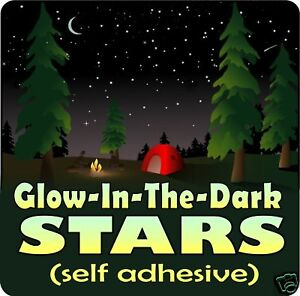 GLOW IN THE DARK STARS vinyl wall decals stickers moon in Home & Garden, Home Decor, Decals, Stickers & Vinyl Art | eBay