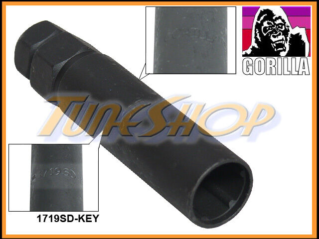 Gorilla 1719SD Key 6 Spline Bolts Lug Nuts Tuner Wheels Lock Stud