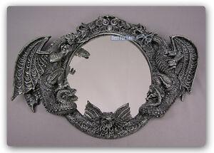 gothic drachen m bel magie horror spiegel bad wc deko drachenspiegel figur neu ebay. Black Bedroom Furniture Sets. Home Design Ideas