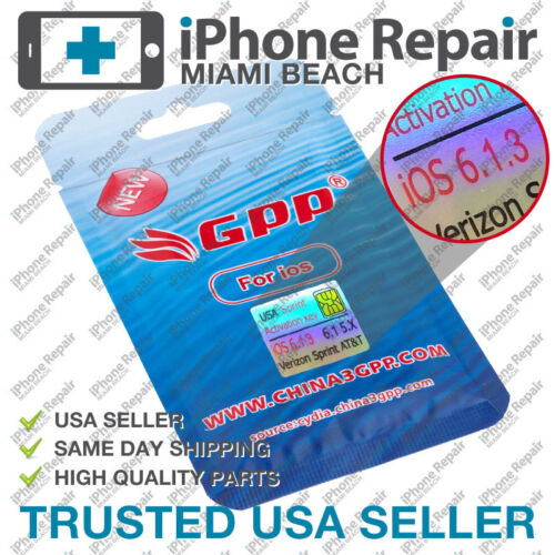 GPP Sim iPhone 4S Sprint iOS 6 & 6.1.3 CDMA Unlock Ultra Card Sim R-Sim Rebel US in Cell Phones & Accessories, Phone Cards & SIM Cards, SIM Cards | eBay