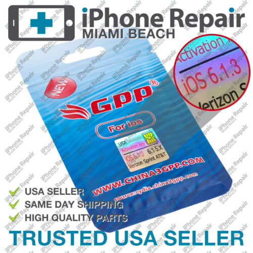 GPP Sim iPhone 4S Verizon iOS 6 & 6.1.3 CDMA Unlock Ultra Card Sim RSim Rebel US in Cell Phones & Accessories, Phone Cards & SIM Cards, SIM Cards | eBay