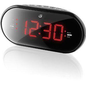 GPX Am FM Clock Radio Dual Alarms Large Display Night Stand Essential