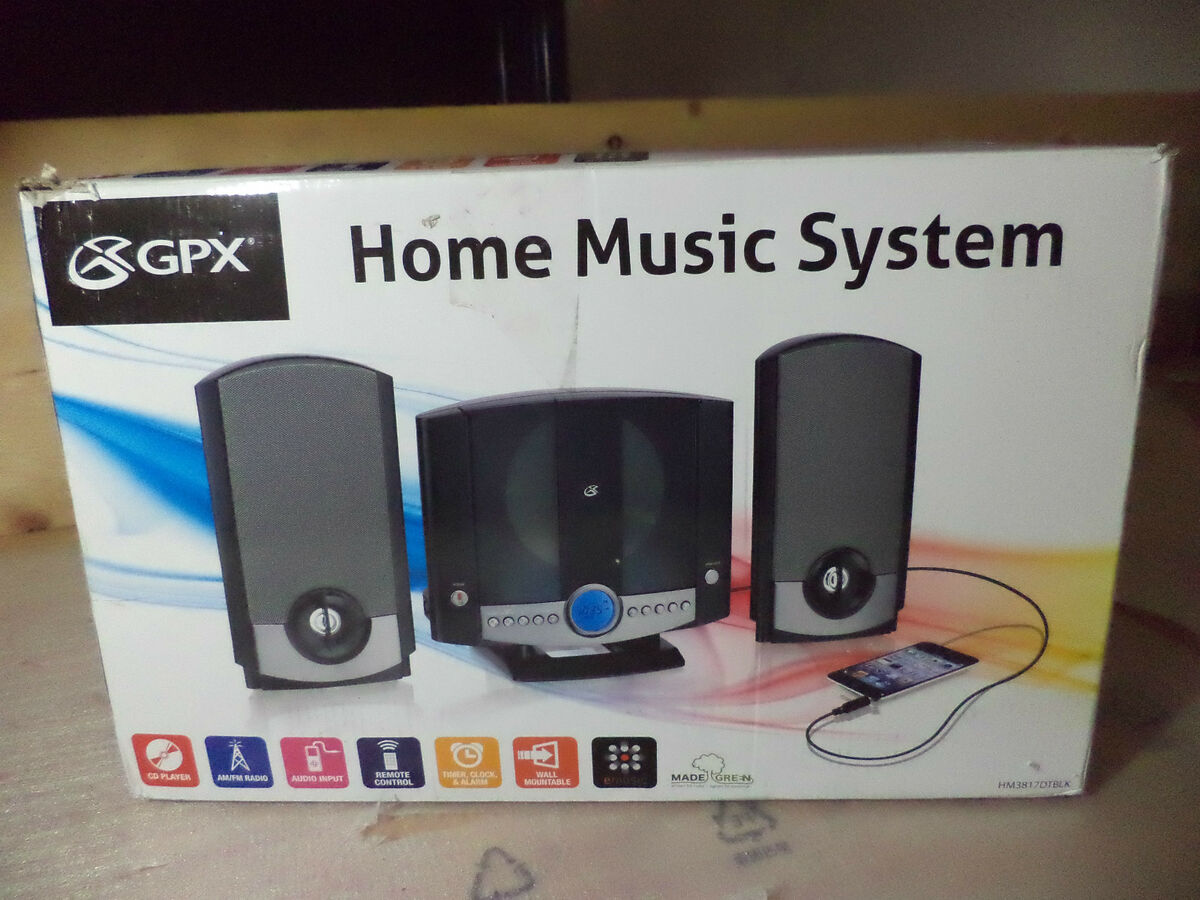 Gpx Home Music Stereo Table Top Speaker System W Cd Player