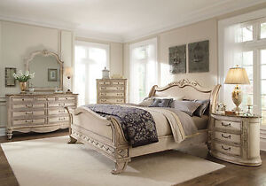 pulaski 5 bedroom set in antique white bed bedroom sets grande palace 5pc traditional antique white 691