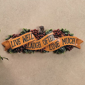 Live Laugh Love Wall Plaques For Kitchen