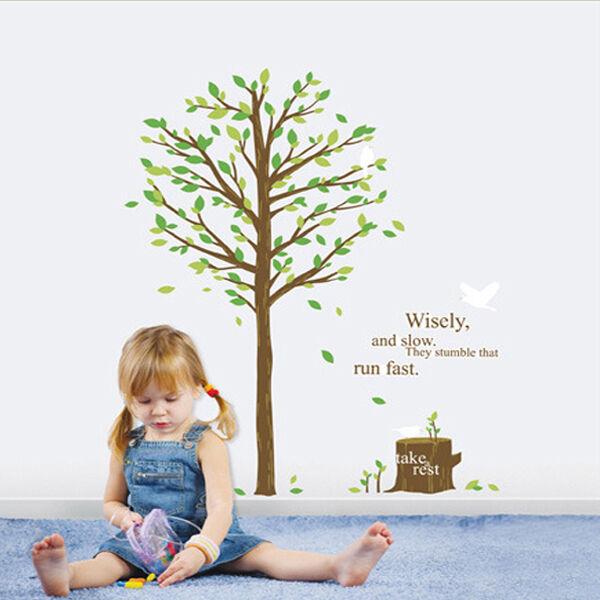 GREEN TREE Mural Art Wall Sticker Removable Vinyl Decal