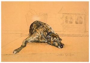 GREYHOUND-BRINDLE-DOG-FINE-ART-LIMITED-EDITION-PRINT-Fireside-Finish