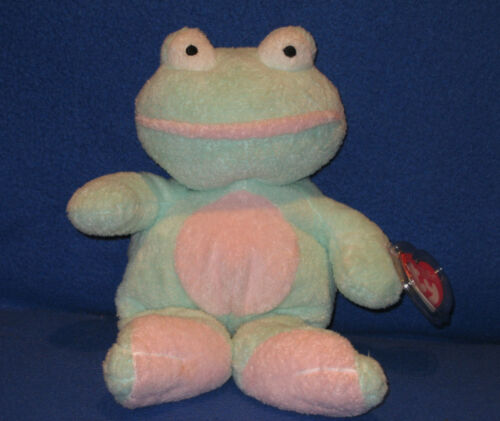 GRINS THE FROG - TY PLUFFIES - MINT with MINT TAGS in Toys & Hobbies, Beanbag Plush, Ty | eBay
